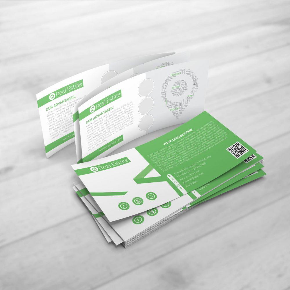 Trycksaker i grönvit färg till företag